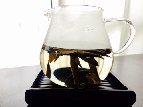 オリーブ茶ポット